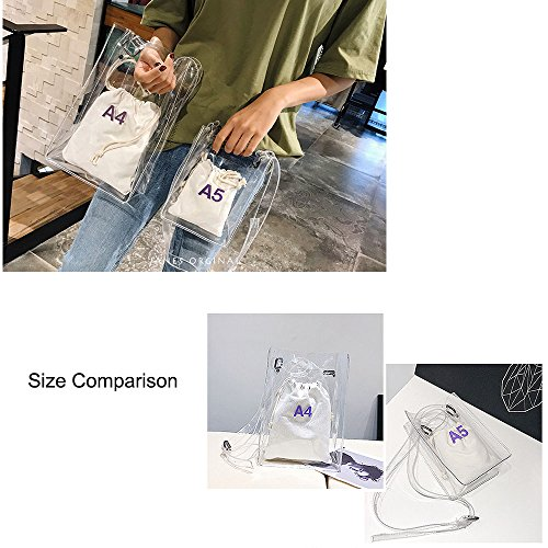 Handbag Women Bag Inner Purse Approved Clear Stadium Clear Messenger Strap Shoulder NFL Bag with Crossbody large for Adjustable qq0fx1w