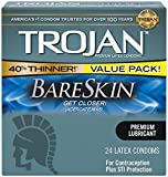 Kyпить Trojan Sensitivity Bareskin Lubricated, Latex Condoms, 24 Count на Amazon.com