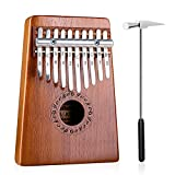 GECKO Kalimba 10 Keys Thumb Piano builts-in tuning hammer,study instruction and cloth bag.