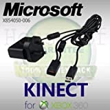 OFFICIAL Microsoft Xbox 360 Kinect Sensor AC UK Power Supply Adapter X854050-006 (UK 3-pin Plug) - Allows You To Create A Kinect Port - for All XBOX 360 Models (OEM Packed)
