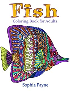 Fishes Coloring Book For Adults