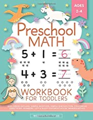 Preschool Math Workbook for Toddlers Ages 2-4: Beginner Math Preschool Learning Book with Number Tracing and M