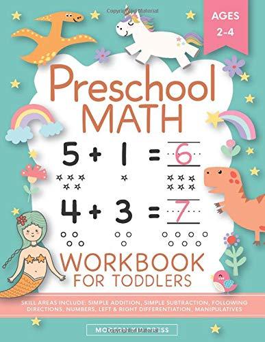 Preschool Math Workbook for