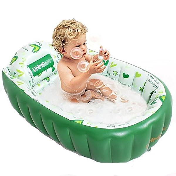 Jrcozzl Vasca Da Bagno Gonfiabile Per Bambini Vasca Per Bambini Pieghevole Per Aumentare Il Bagno Neonato