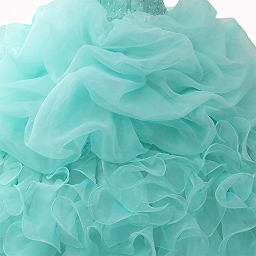 Gowns WJ1031 AIJIAYI Dresses Beaded Prom Strapless Ball Sparkly Women's Quinceanera Sequined AqTxARZBw