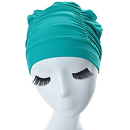 Sombrero de natación Pestaña Impermeable Plisada Gorra de natación ...