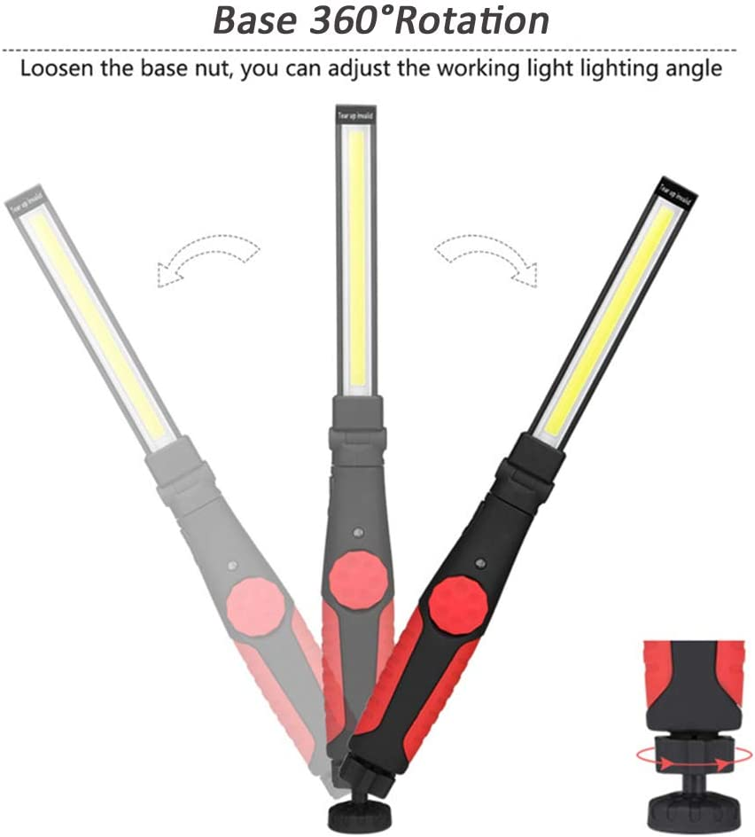 Inspection Hanging Light USB Rechargeable Slim Work Light Anti-Slip 270° Adjust