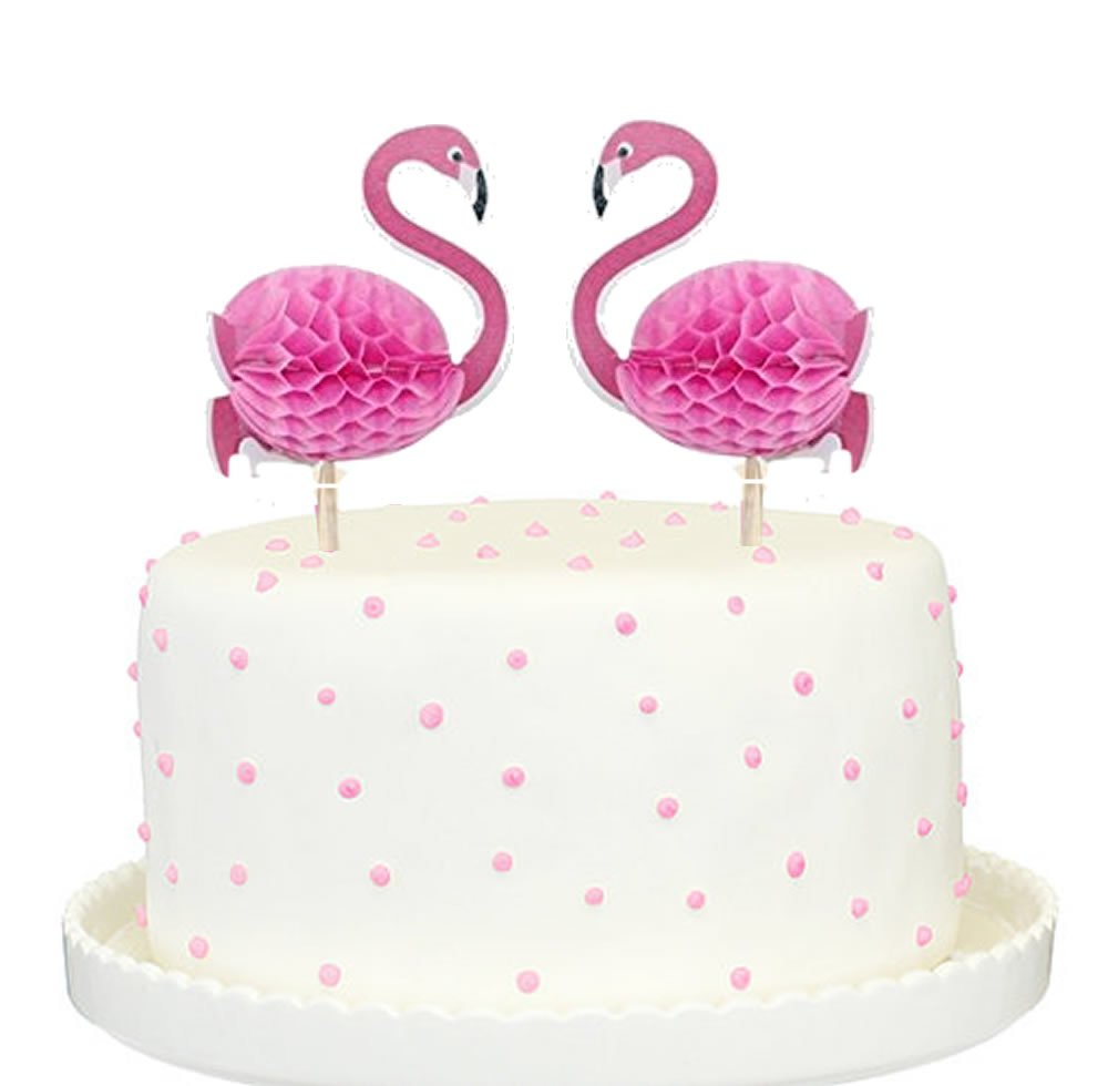 Amazon Glitter Pink Flamingo Cake Topper Party Supplies