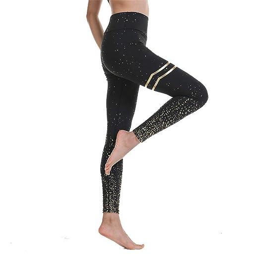 De cintura alta de yoga Pantalones Leggings Hot-Stamping ...