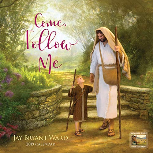 19 Fine Art Christian Calendar by Jay Bryant Ward | Inspirational, Encouraging, Religious, Spiritual | 12 Month Hanging Wall Calendar, (Limited Edition, Signed by Artist), 12 x 12 ()
