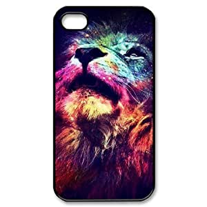 Lion The Unique Printing Art Custom Phone Case for Iphone 4,4S,diy cover case ygtg541371