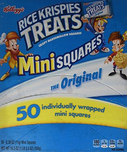Rice Krispies Treats Original Mini Squares, (Box of 50 units)