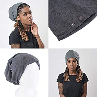 ea761895286 Beautifully Warm Satin Lined Slouchy Hat for Natural Hair