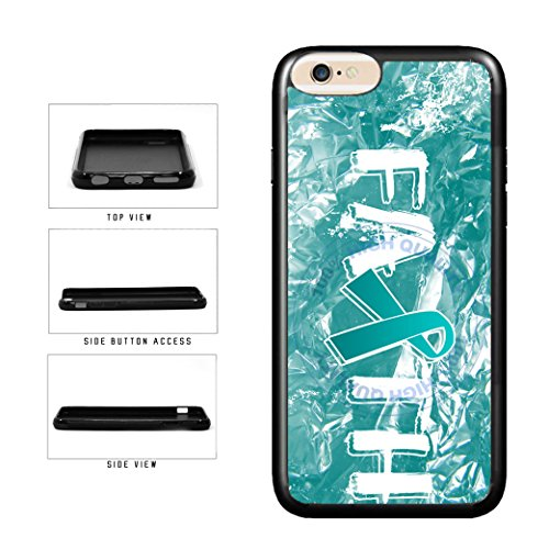 BleuReign(TM) Ovarian Cancer Awareness Faith Ribbon TPU RUBBER SILICONE Phone Case Back Cover For Apple iPhone 8 Plus and iPhone 7 Plus