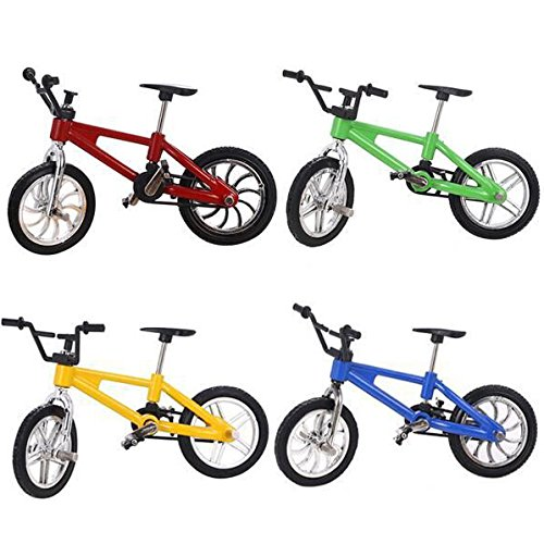 4 Pack Finger Mountain Bike Excellent Functional Miniature Metal Toys Mini Extreme Sports Finger Bicycle Cool Boy Toy Creative Game Toy Set Collections by Yexpress (Image #2)