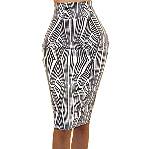 86f2130de84 Vivicastle Women s USA High Waist Band Bodycon Career Office Midi Pencil  Skirt ...