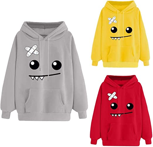 DEELIN Sra. Autumn New Sweater Naughty Cute Emoji Print Manga ...