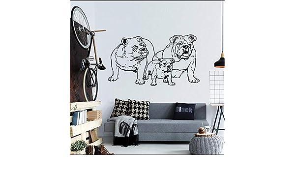 nkfrjz Etiqueta engomada del Vinilo Bulldog Francés Perro ...