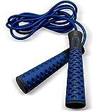 TKO Soft-Grip Cross Training and Cardio Fitness Jump/Skip Rope, Sapphire/Onyx