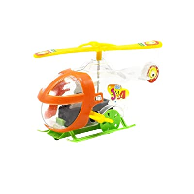 Fasclot Wind Up Toys Clockwork Transparent Winding Helicopter Baubles Educational Puzzle Toys for Kids Christmas Thanksgiving Gifts Children Birthday Party Fun Gifts Goody Bag Fillers: Home & Kitchen