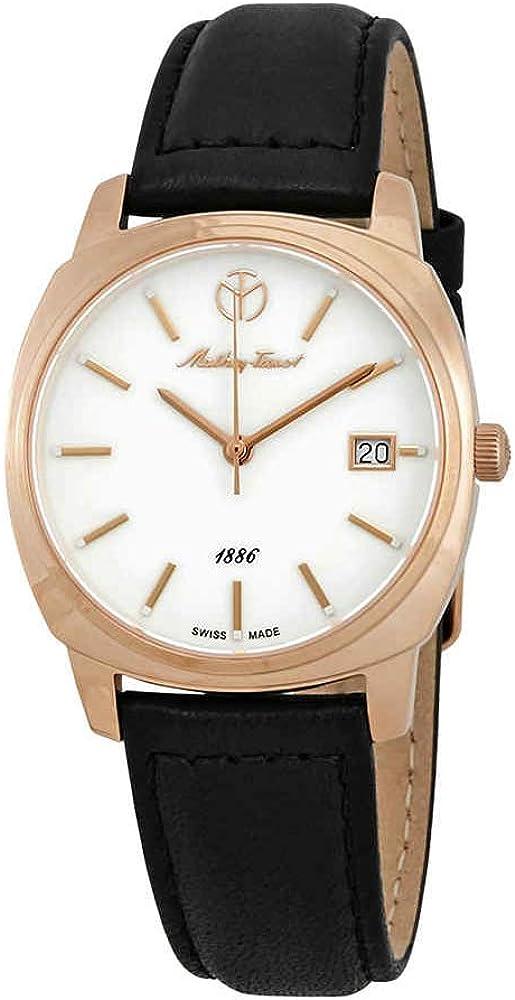 Mathey-Tissot - Reloj de pulsera para mujer, esfera blanca, D6940PI