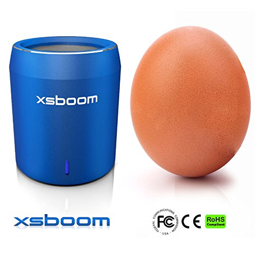 XSBOOM Mini Bluetooth Speaker for Apple iPad iPhone iPod MP3 | Best Small Portable Wireless Speakers with Android Samsung Laptop The Perfect Travel Gift has Super Bass USB Wifi in Blue