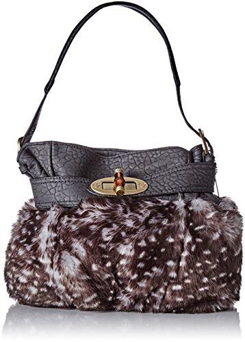 Lollipops - Appy Bourse, Shoppers y bolsos de hombro Mujer, Noir (Black), 17x25x33 cm (W x H L)