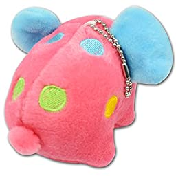 Cute Baby Red Elephant with Blue Green Yellow Dot Soft Plush Stuffed Toys Keychain