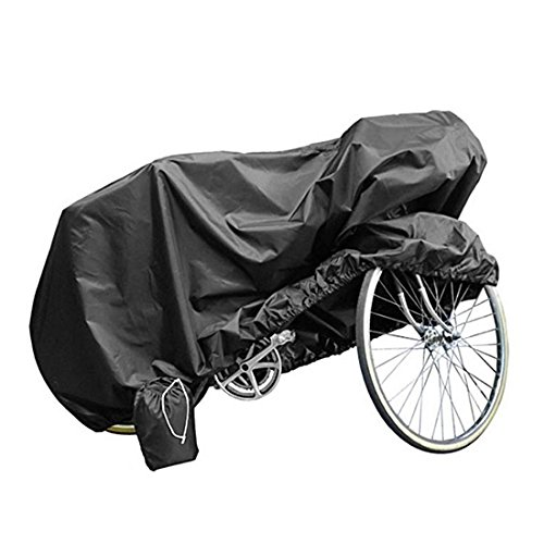 Andux Land Bicycle BikeCover 210T Polyester Heavy Duty Waterproof Wind Proof Rain Sun UV Dust for Mountain, Road, Racing Cruiser, Electric & Hybrid Bikes, Adjustable Outdoor Storage Black ZXCZ-01 by Andux