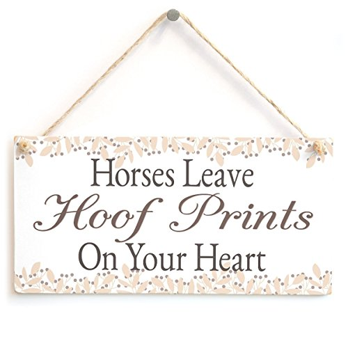 Meijiafei Horses Leave Hoof Prints On Your Heart - Lovely Horse Gift Plaque for Horse Lovers 10