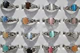 Buyinheart New Wholesale Lots Mixed Colorful Finger Ring Jewelry