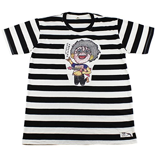 Cartoon Character Gangster (Rockatar Cartoon Character Striped T-Shirt / BG12.1 size)