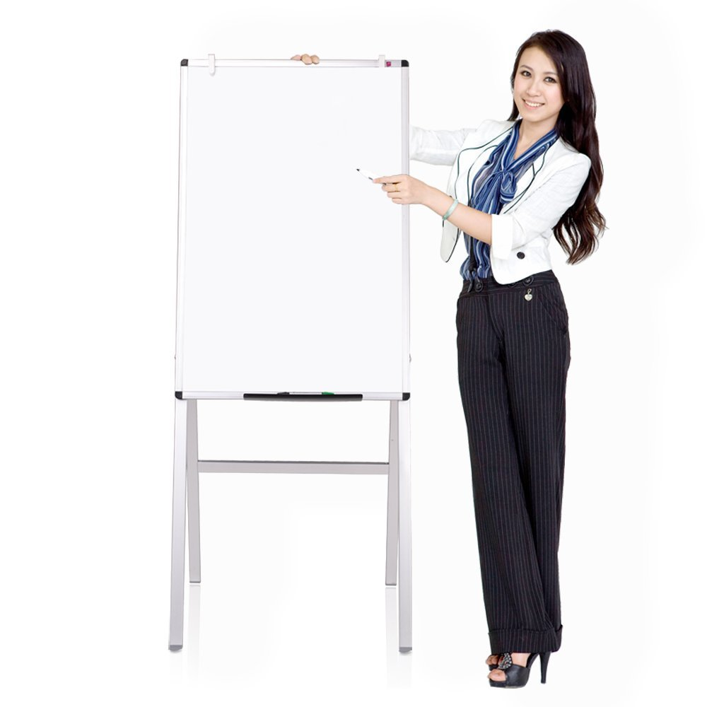 VIZ-PRO Magnetic H-Stand Whiteboard / Adjustable Dry Erase Easel,24 x 36 Inches