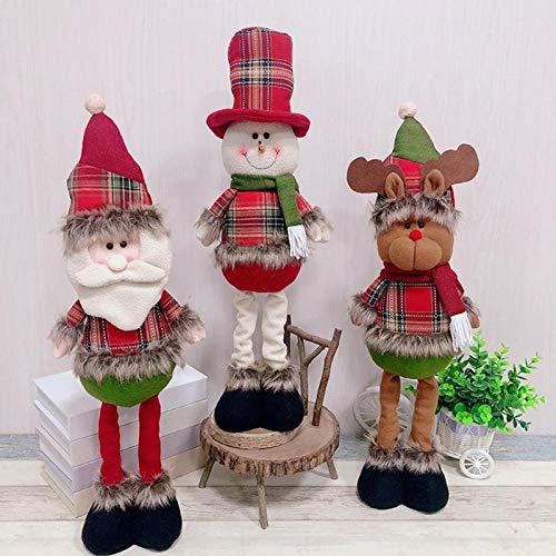 Pendant & Drop Ornaments - Natal Retractable Standing 43 57cm Christmas Doll Decoration Large Santa Claus Snowman Elk Kids - Santa Clause Santa Doll Claus Claus Decor Ceramic Bjd Wash Air Copper