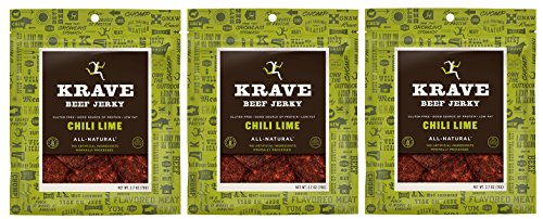 All Natural Beef Jerky - Chili Lime - 2.7 Ounces Each (Pack of -