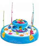 Toyshine Fish Catching Game Big with 26 Fishes and 4 Pods, Inclues Music and Lights Assorted Color