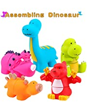 Zmoon Dinosaur Toys, Kids Dinosaur Play Figure Dino Playsets Animal Educational Kits Gifts for Boys Girls Baby Toddlers