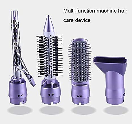 GOMAR 4 en 1 secador de Pelo/rizador/alisador de brocha para peinar con Aire Caliente Reemplazable Salon Multifuncional de Pelo de Ion Negativo Conjunto