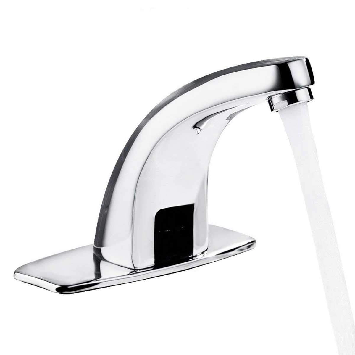 Yosoo Automatic Infrared Sensor Faucet, Zinc Alloy Smart Touchless Sink Faucet Kitchen Bathroom Water Tap (Type of 1) by Yosoo