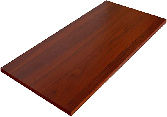 100x60x2.5cm, Bianco FLEXISPOT Piano del Tavolo Pannello Rettangolare in Legno Massello per Scrivania Cucina Fai da Te