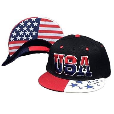 DEELIN Sombrero para Mujeres Hombres USA Imprimir Bandera Americana Snapback Cap Ajustable Estados Unidos Gorra De BéIsbol: Amazon.es: Ropa y accesorios
