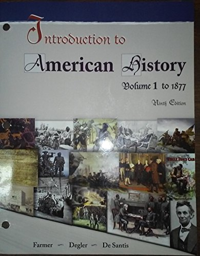 Intro.To American History,Vol.I (Ll)