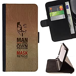 DEVIL CASE - FOR Samsung Galaxy S3 III I9300 - Mask Anonymous Freedom Protest Revolution - Style PU Leather Case Wallet Flip Stand Flap Closure Cover