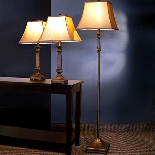 3-Pc Traditional Lamp Set by Coaster Home Furnishings