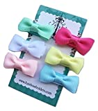 Small Mini Hair Bows for Baby Girls, Made with VELCRO® brand fasteners Hair bows, cute mini hairbows