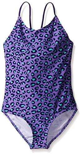 (Kanu Surf Big Girls Shannon Leopard Print One Piece Swimsuit, Shannon Purple Leopard, 12 )