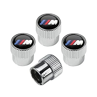 OSIRCAT M Logo Tire Valve Stem Caps for BMW M Accessories,Zinc Alloy Plating Chrome Universal Car Wheel Tire Valve Covers Set of 4: Automotive