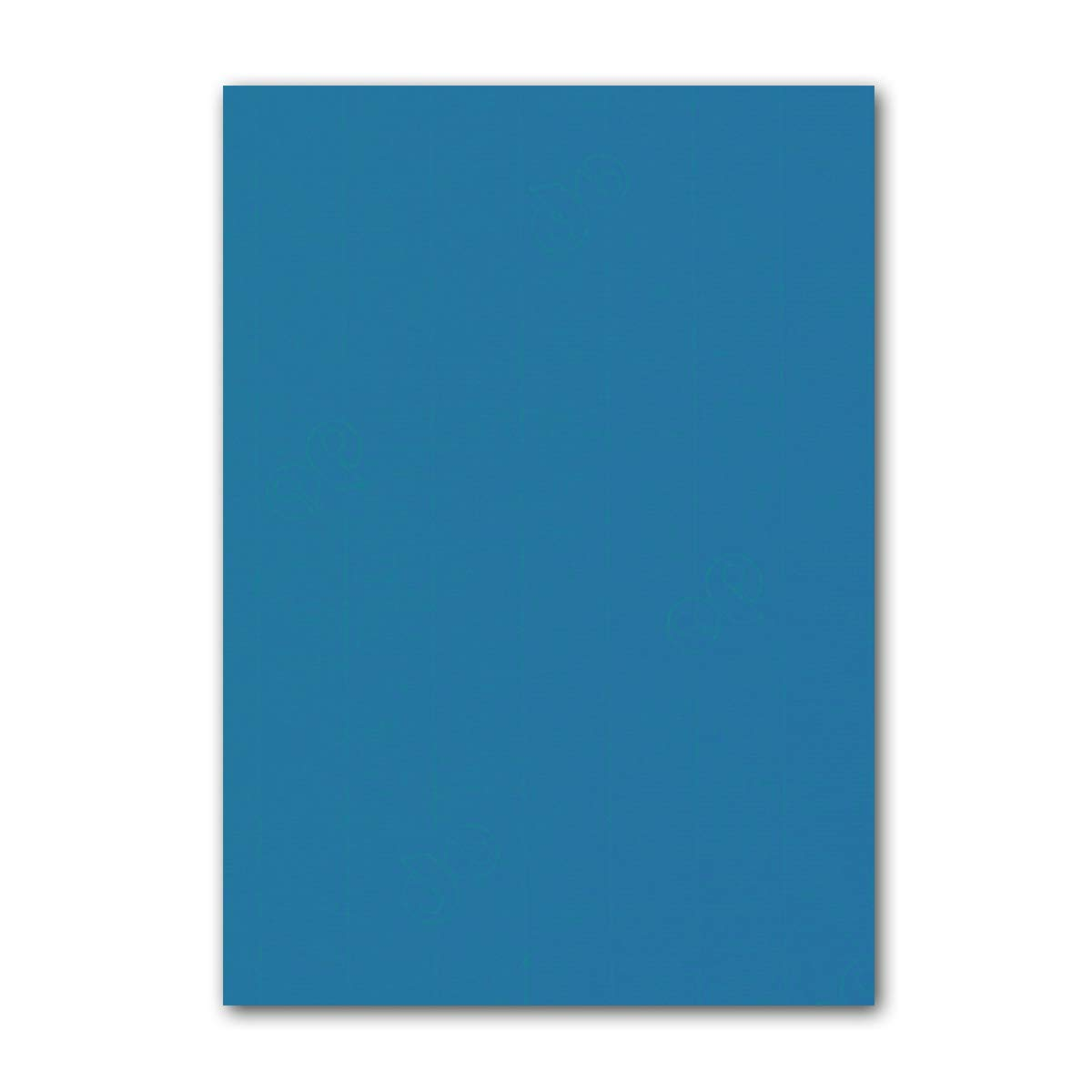 ARTOZ 150x Briefpapier + Bastelpapier Bastelkarton - Taupe - DIN A4 297 x 210 mm – Edle Egoutteur-Rippung – Hochwertiges 220 g m² Tonpapier – Scrapbooking Papier 395 - Petrolblau 100 Stück