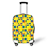 Suitcase Cover Spandex Floral Print Luggage Protector for 18''-28'' Inch