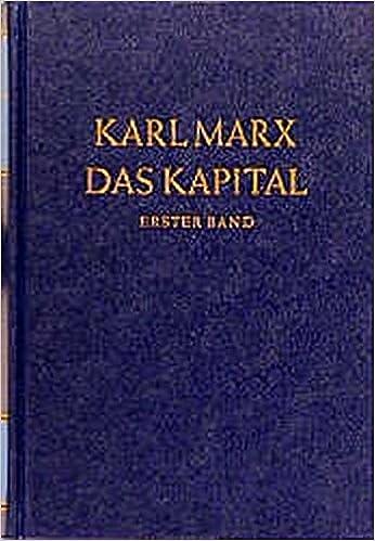Das Kapital Kritik Der Politischen ökonomie Das Kapital Bd1
